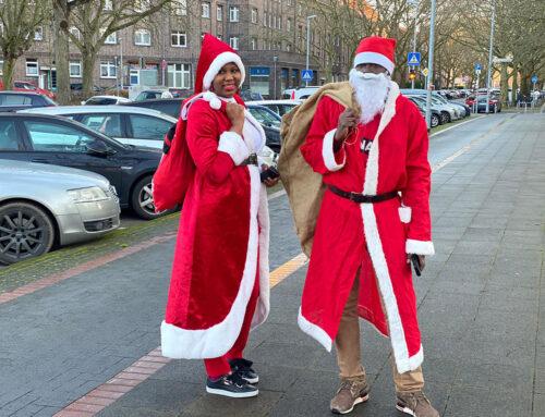 Der Weihnachtsmann mach Mobil